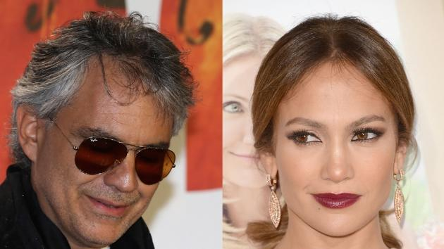 Andrea Bocelli, Jennifer Lopez  -- Getty Images