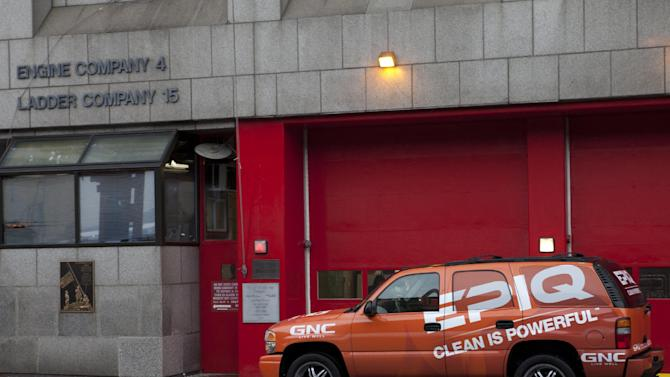 IMAGE DISTRIBUTED FOR EPIQ - EPIQ and GNC donate gym equipment to FDNY Engine 4, Ladder 15 on Tuesday, Feb. 5, 2013 in New York City. (Photo by Amy Sussman/Invision for EPIQ/AP Images)