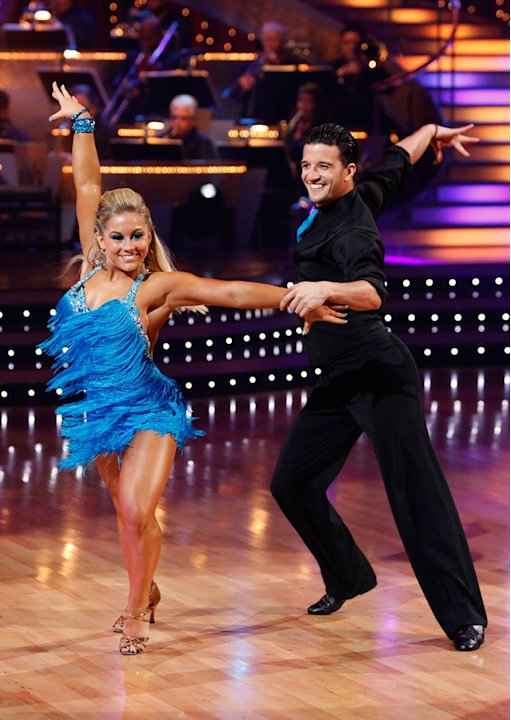 Shawn Johnson and Mark Ballas perform the Samba to &quot;Get Down On It&quot; by Kool and the Gang on &quot;Dancing with the Stars.&quot; 