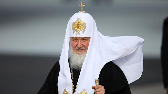 Patriarch Kirill, the head of the Russian Orthodox Church, walks after his arrival at the Jose Marti International Airport in Havana