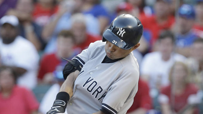 Yankees rally against Nathan for 5-4 win in Texas