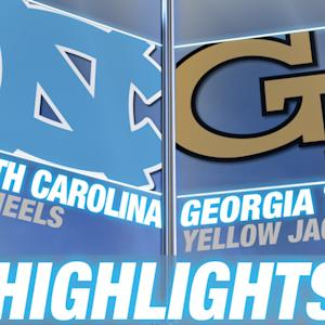 North Carolina vs Georgia Tech | 2014-15 ACC Men's Basketball Highlights