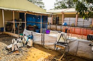 A empty Ebola virus decontamination zone at the Hastings…