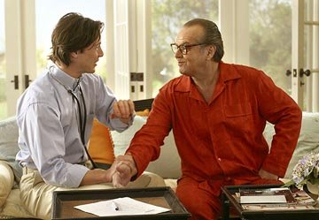 Jack Nicholson and Keanu Reeves in Columbia's Something's Gotta Give