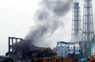 A picture released by Tokyo Electric Power Company (TEPCO) via Jiji Press on March 21, 2011 shows black smoke rising from reactor number three of the Fukushima Daiichi nuclear power plant. Scientists have warned it could be decades before it is safe for some people to return to their homes after radioactive substances leaked into the air, soil and sea