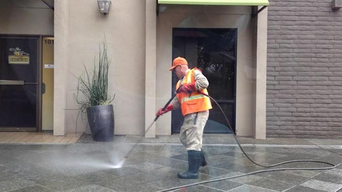 Power washing San Jose streets raises questions around waste during drought