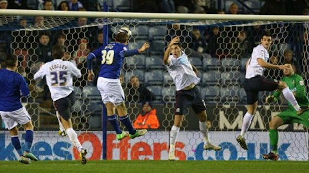 Leicester City's Chris Wood scores (PA Sport)