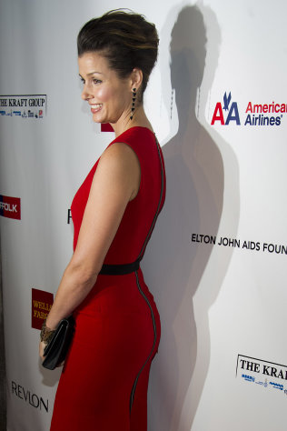Bridget Moynihan attends Elton John's AIDS Foundation's 11th annual Enduring Vision benefit on Monday, Oct. 15, 2012 in New York. (Photo by Charles Sykes/Invision/AP)