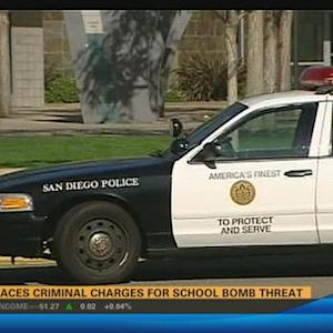 Man faces criminal charges for school bomb threat