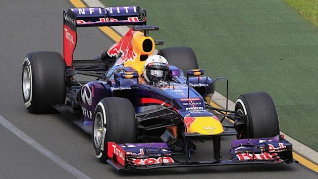 Red Bull Formula One driver Sebastian Vettel of Germany drives during the first practice session of the Australian F1 Grand Prix at the Albert Park circuit in Melbourne (Reuters)