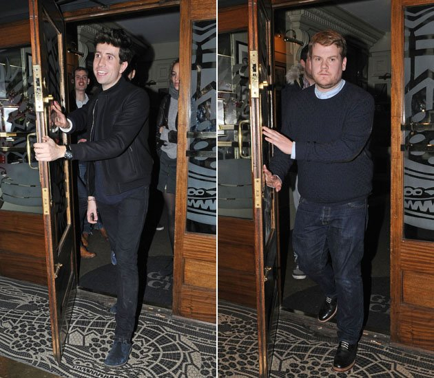 Nick Grimshaw and James Corden