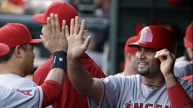 Rare Pujols triple leads Angels over Rangers 8-1