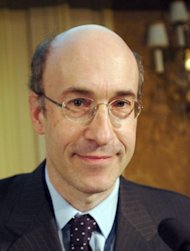 <p>Kenneth Rogoff, seen here in 2008, is among the names circulating in the Swedish media and economic circles as a possible laureate of the Nobel Economics prize, to be announced on Monday.</p>