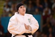 "Saudi Arabia's Wojdan Shaherkani is seen during the women's +78kg judo contest of the London 2012 Olympic Games on August 3. Her much-anticipated participation in Olympic competition only lasted 82 seconds, but Wojdan Shaherkani's first round exit in the under-78kg judo competition was emblematic of the ""Women's Games."""