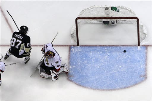Crosby leads Penguins to 4-3 win over Senators