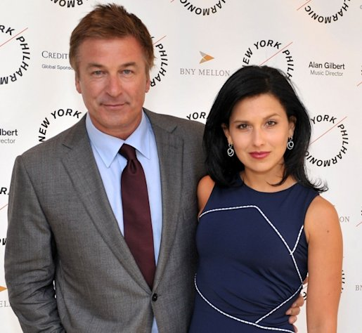 Alec Baldwin and Hilaria Thomas attend the 2012 New York Philharmonic Spring gala at Avery Fisher Hall Grand Promenade in New York City on March 26, 2012