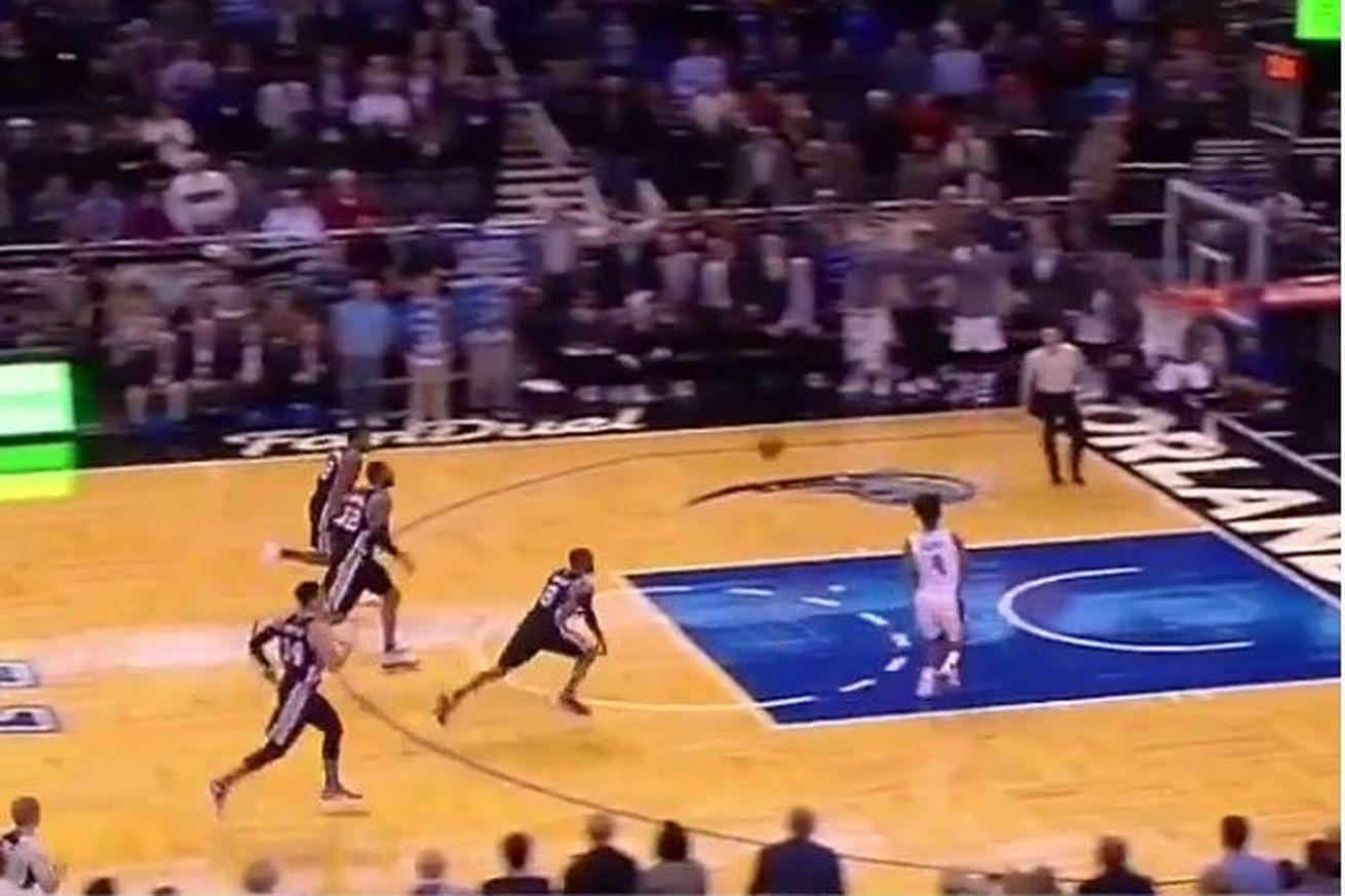 The Magic caught the Spurs napping and almost forced overtime