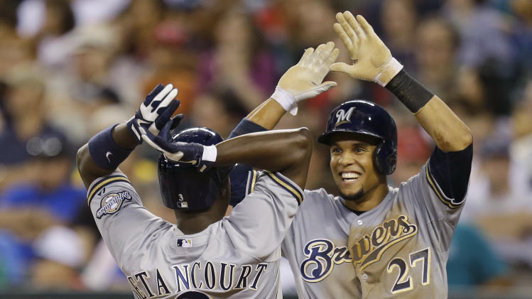Betancourt slams Brewers past Mariners 10-5