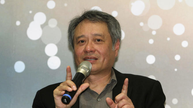 Taiwanese director Ang Lee answers questions during a press conference in Taipei, Taiwan, Thursday, May 9, 2013. The academy award winning director said Thursday that modesty and diligence have been the keys to his success in penetrating the foreign cultures that have framed the backgrounds for many of his most notable films. (AP Photo/Chiang Ying-ying)