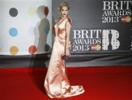 Singer Rita Ora arrives for the BRIT Awards at the O2 Arena in London February 20, 2013. REUTERS/Luke Macgregor