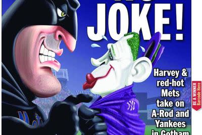 'Daily News' cover depicts Matt Harvey as Batman and A-Rod as the Joker