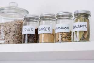 Keep your herb and spice rack well stocked to add flavouring to your meals without extra calories