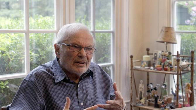 """FILE - In this Sept. 6 2011 file photo, children's book author Maurice Sendak is photographed doing an interview at his home in Ridgefield, Conn. Sendak died last May at age 83 after years of health problems, but had managed to finish """"My Brother's Book,"""" published this week.  (AP Photo/Mary Altaffer, file)"""