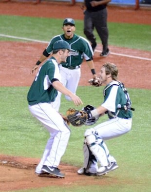 Waxahachie star David Martinelli celebrates his playoff no-hitter — Twitter