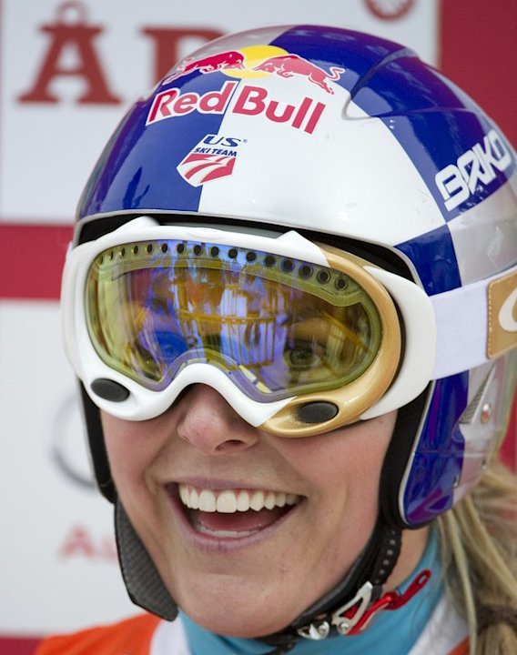 US' S Lindsey Vonn Reacts As She Finishes The Second Run Of The FIS Alpine Ski World Cup Women's Giant Slalom In Are, AFP/Getty Images