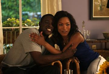 Lance Gross and Angela Bassett in Lionsgate Films' Tyler Perry's Meet the Browns