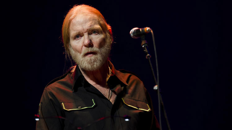 "FILE - In this April 13, 2013 file photo, Gregg Allman performs at Eric Clapton's Crossroads Guitar Festival 2013 at Madison Square Garden, in New York. On Friday, January 10, 2014, music stars and friends will join together for ""All My Friends: Celebrating the Songs & Voice of Gregg Allman,"" a special concert in honor of the legendary singer, songwriter and musician. The star-studded concert will take place at the Fox Theatre in Atlanta, Georgia. (Photo by Charles Sykes/Invision/AP, file)"