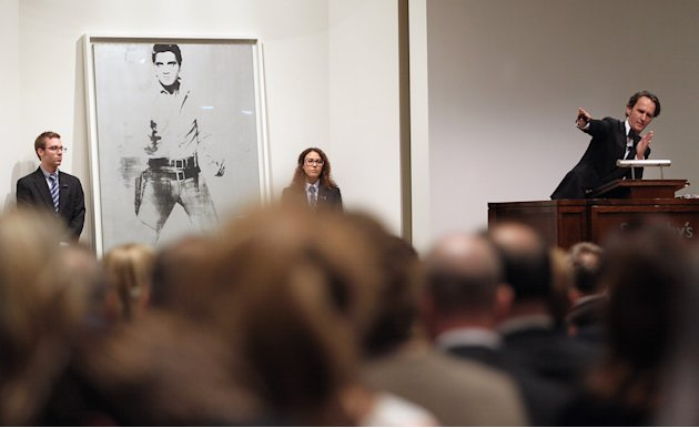 "Andy Warhol's ""Double Elvis"" Auctioned At Sotheby's"