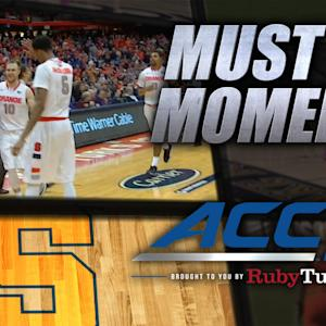 Syracuse's Cooney Hits Long-Range Buzzer Beater | ACC Must See Moment