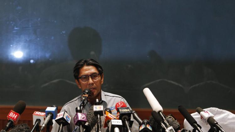 DCA Director General Datuk Azharuddin Abdul Rahman speaks at a news conference near the Kuala Lumpur International Airport in Sepang