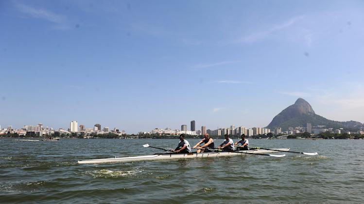 Sir Steve Redgrave Visits Rio de Janeiro Rowers at Lake Lagoa - 2013 Laureus World Sports Awards