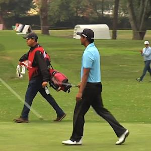 Sebastian Munoz climbs into a tie for the lead at Club Colombia Championship