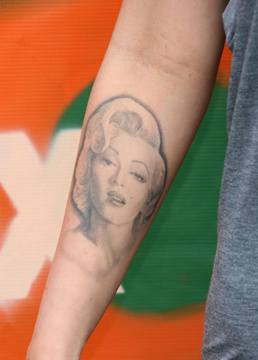 Megan Fox has Marilyn's face tattooed on her arm