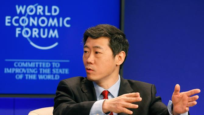 Director General for China in the World Economy, Li Daokui speaks during a session at the World Economic Forum in Davos, Switzerland on Saturday, Jan. 29, 2011. More than two dozen senior officials from key economies will try Saturday to agree on whether to send a political signal that a new global trade deal can, at last, be completed this year as the World Economic Forum gradually comes to a close. (AP Photo/Michel Euler)