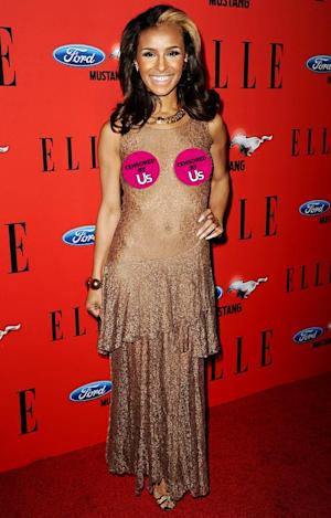 Whoa! Former Pussycat Doll Melody Thornton Flashes Breasts on Red Carpet