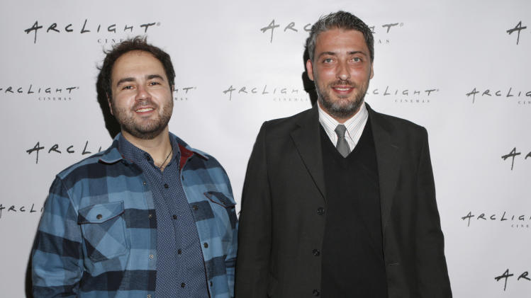 "Pavlos Georgiadis and Director Haris Donias from film ""Farming on Crisis?"" attend Arclight Cinemas' 2nd Annual Documentary Film Festival Awards at the Arclight Hollywood on Saturday Nov. 10, 2012 in Hollywood, Calif. (Photo by Todd Williamson/Invision for Arclight Cinemas/AP Images)"