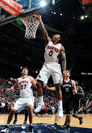 Teague has career-high 28, Hawks stop Nets 109-95