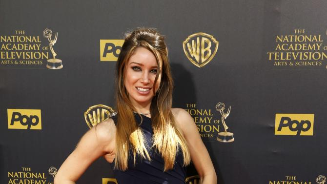 Actress Celeste Fianna arrives at the 42nd Annual Daytime Emmy Awards in Burbank