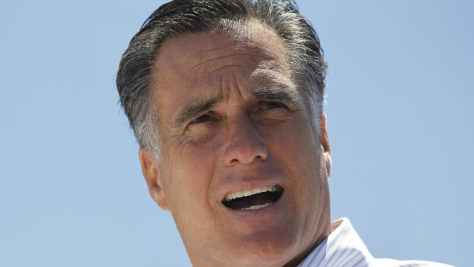Republican presidential candidate Mitt Romney campaigns at Carter Machinery Company, Inc., in Salem, Va., Tuesday, June 26, 2012. (AP Photo/Charles Dharapak)