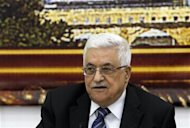 Palestinian President Mahmoud Abbas attends a meeting with Israeli politicians in the West Bank city of Ramallah October 14, 2012. REUTERS/Mohamad Torokman