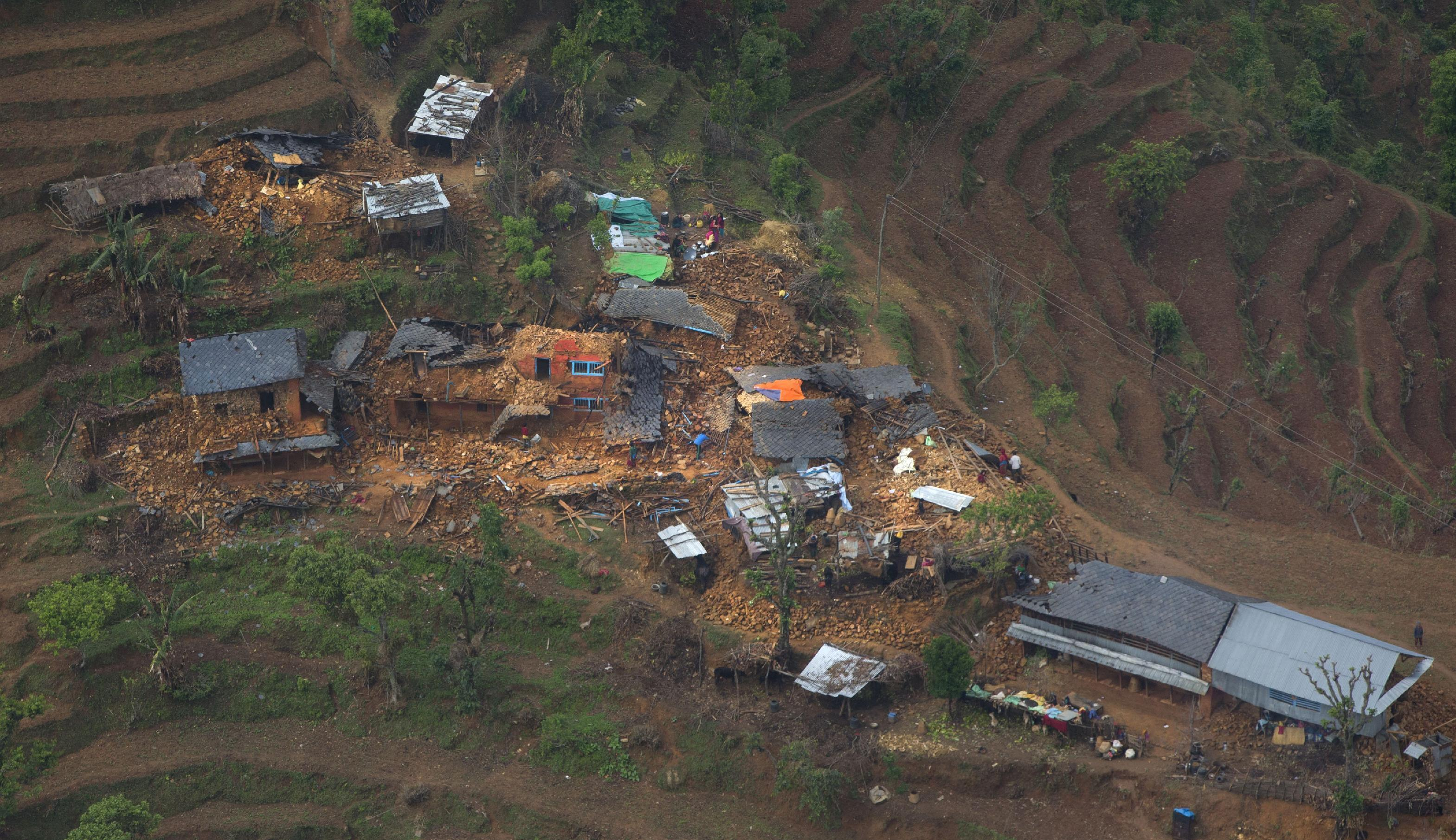 Nepal assesses if quake-hit villages are at risk before rain