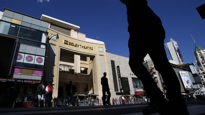 This Monday, Feb. 11, 2013 photo shows the Dolby Theatre in the Hollywood section of Los Angeles. The 85th Academy Awards will be broadcast from the Dolby Theatre for the first time on Sunday,  Feb. 24, 2013. (AP Photo/Jae C. Hong)