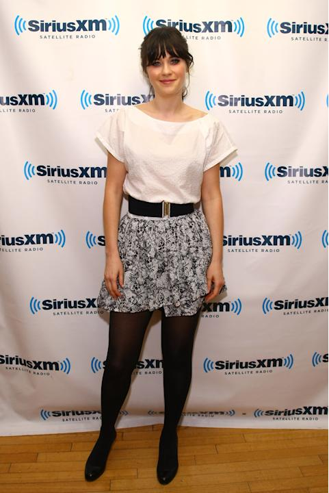 Zooey Deschanel And Kris Allen Visit SiriusXM