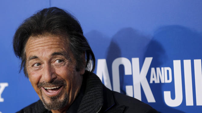 "In this Sun., Nov. 11, 2011 file photo, cast member Al Pacino arrives at the premiere of ""Jack and Jill"", in Los Angeles. Pacino returns to Broadway to star in David Mamet's drama ""Glengarry Glen Ross,"" which opens officially on Sunday, November 11, 2012, at the Gerald Schoenfeld Theatre in New York. (AP Photo/Matt Sayles, File)"