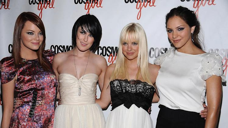 The House Bunny Premiere New York City 2008 Emma Stone Rumer Willis Anna Faris Katherine McPhee