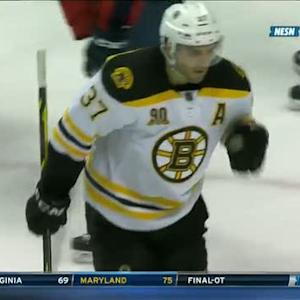 Bergeron rips a one-timer by Luongo on PP